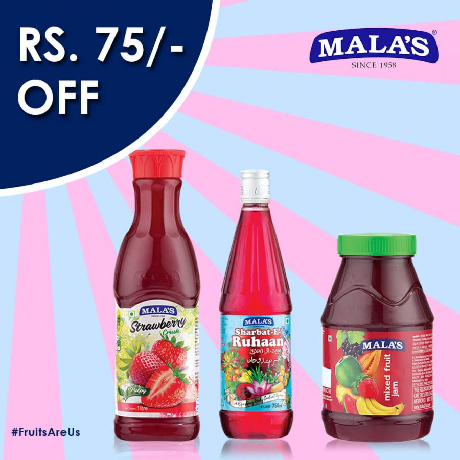 Strawberry Crush 1ltr,Ruhaan,Mixed Fruit Jam 1kg Combo