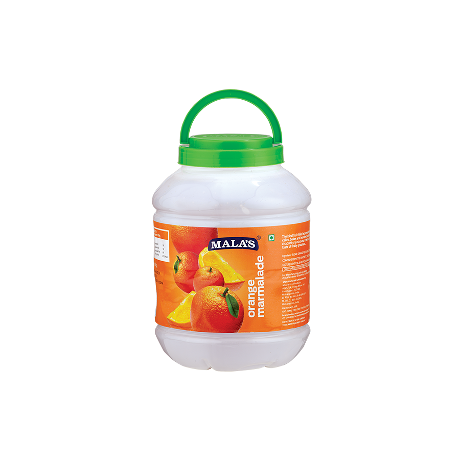 Orange Jam 4kg Pet Jar